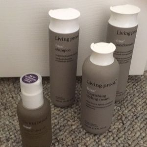 4 living Proof shampoo, conditioner, stying cream